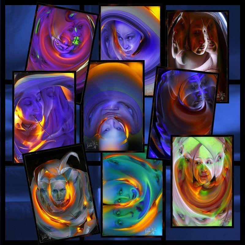 светографика, портрет, свет, отражения, искажения, абстракция, импровизация, свет photo preview