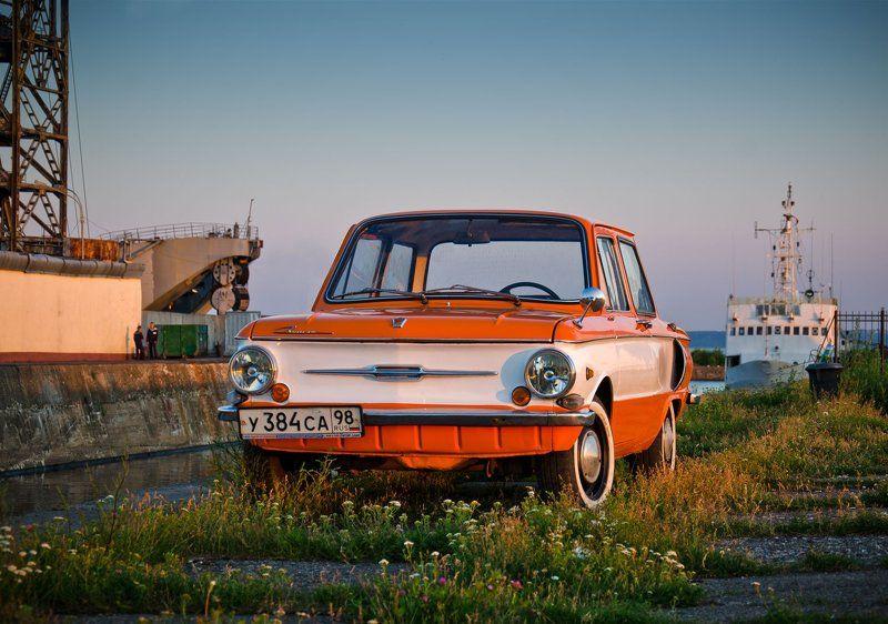 заз, запорожец, ушастый, оранжевый, советский, заз-968 photo preview