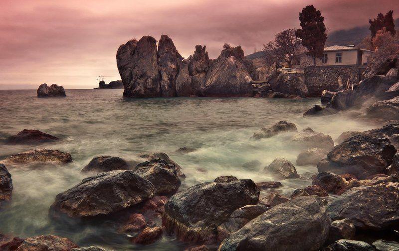 скалы, камни, море photo preview