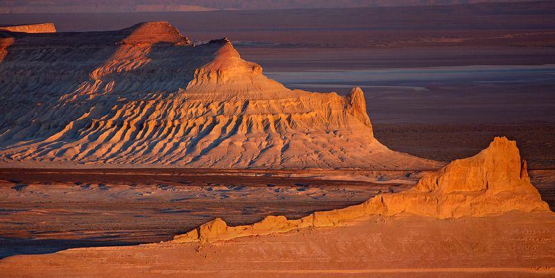 закат, казахстан, плато устюрт Шестьсот секунд до горизонта. Устюрт.photo preview