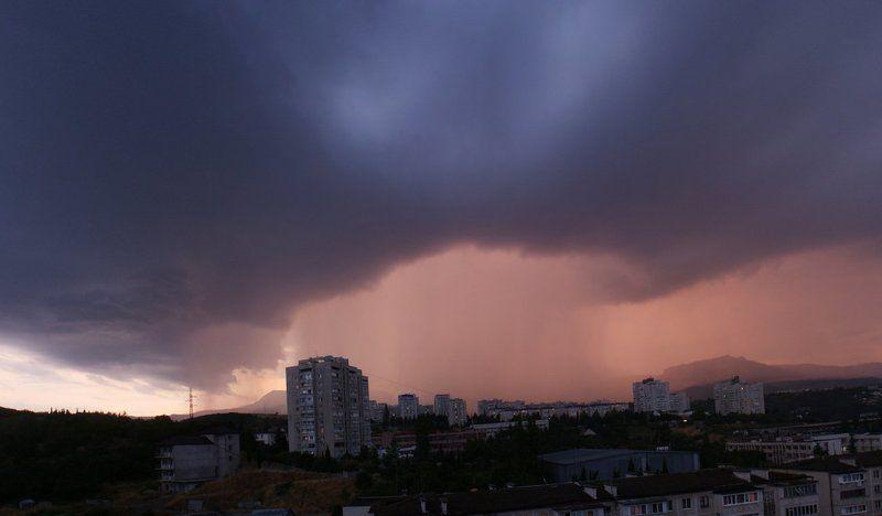 дождь, облака, панорама, крым,  photo preview