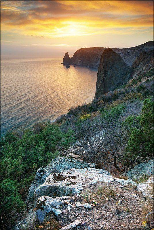фиолент, горы, пейзаж, море, закат, крым photo preview