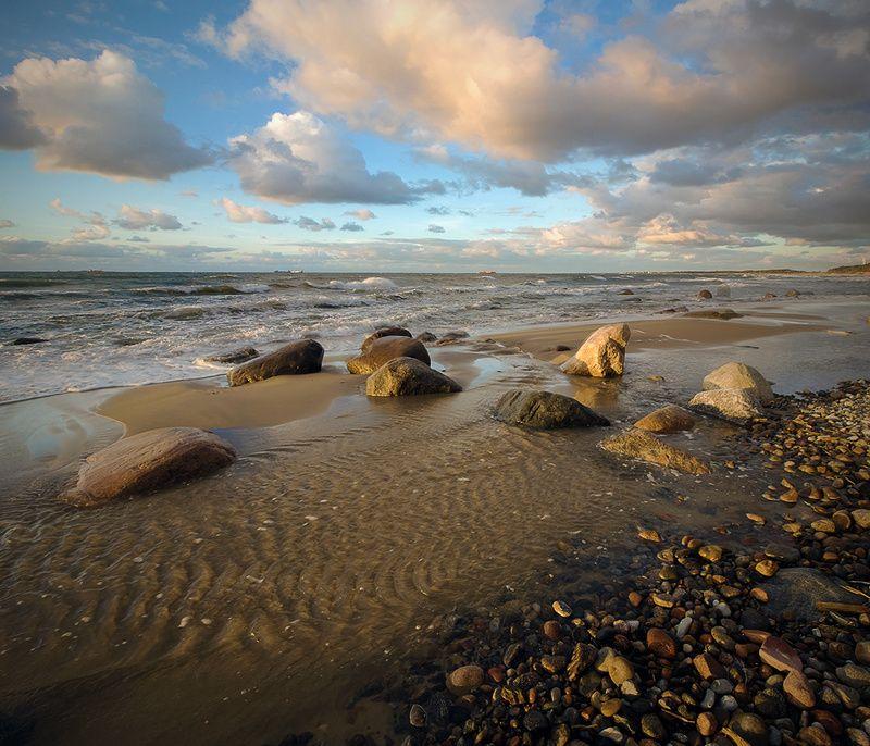 Балтийский берег. Цвета заката.photo preview