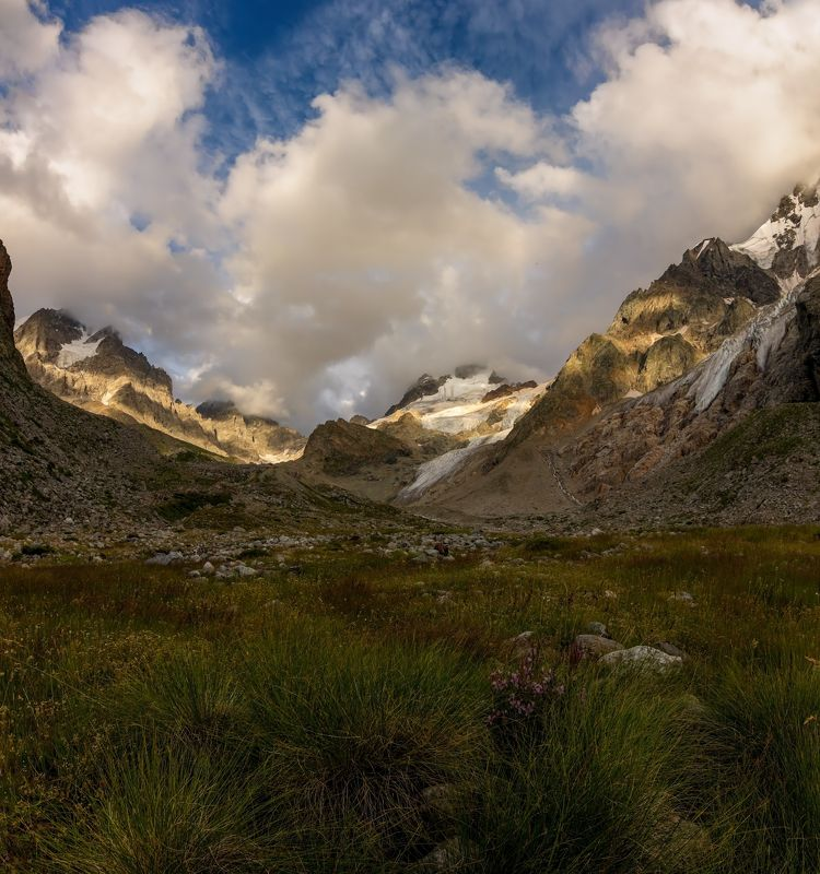 горы, закат, кавказ Местийская долина...photo preview