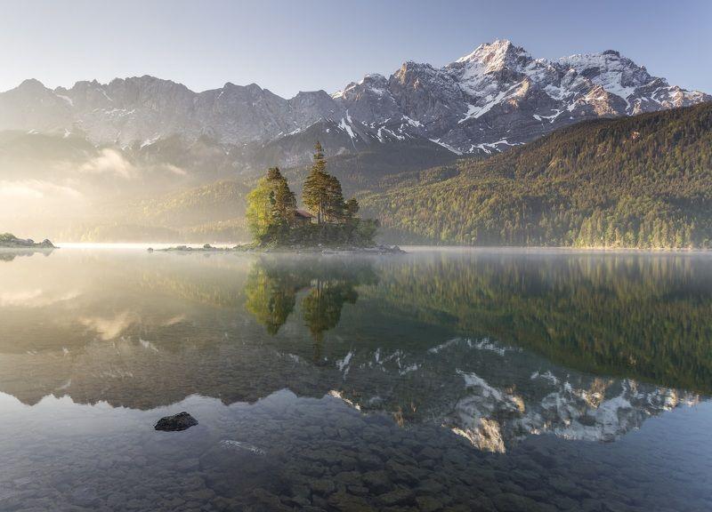 озеро, утро, горы, альпы, Айбзее Озеро Айбзее. Бавария.photo preview
