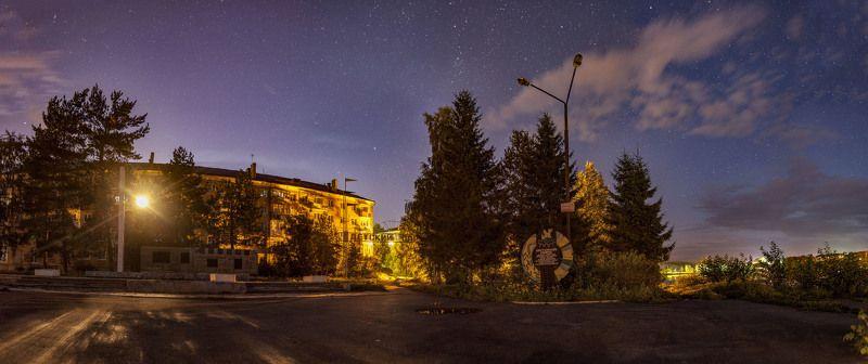 пермский край, лысьва, звезды Ночной город Лысьваphoto preview