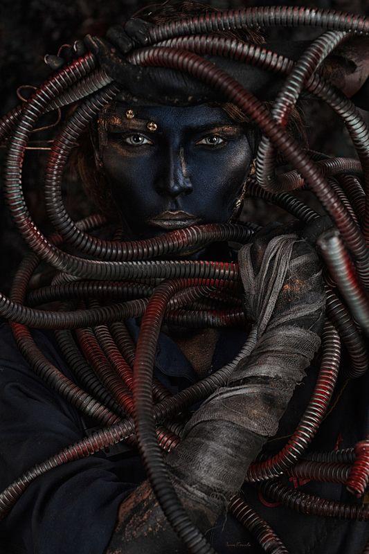 портрет, человек, подземелье, арт, фейсарт, боди, люди, глаза, взгляд, креатив, студия неизбежностьphoto preview