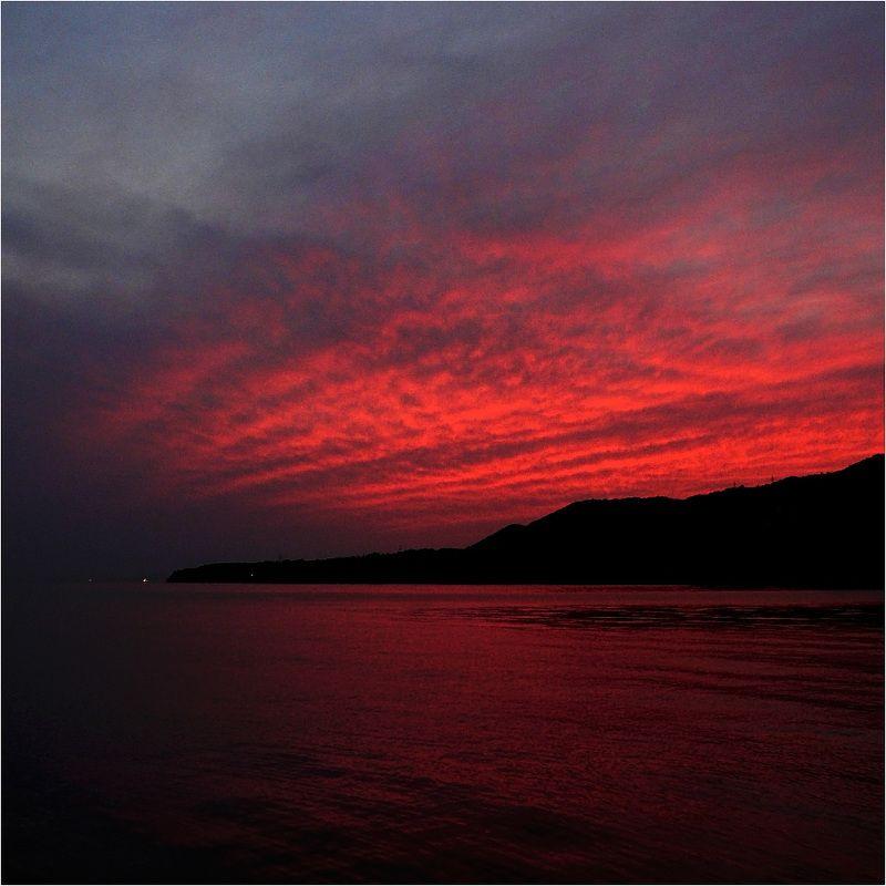 заря, море, облака Предрассветноеphoto preview