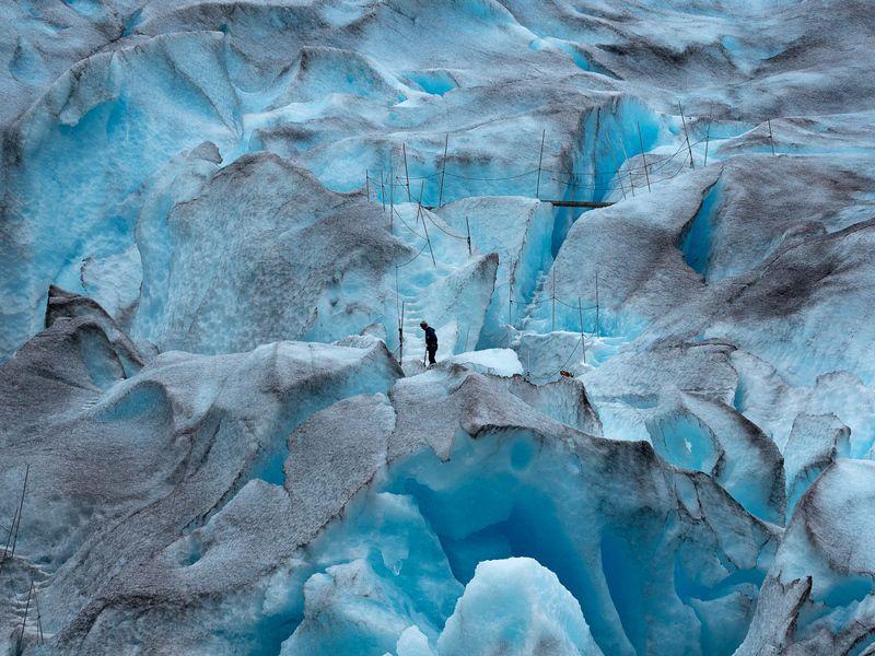 лед ледник снег альпинист Ледникphoto preview