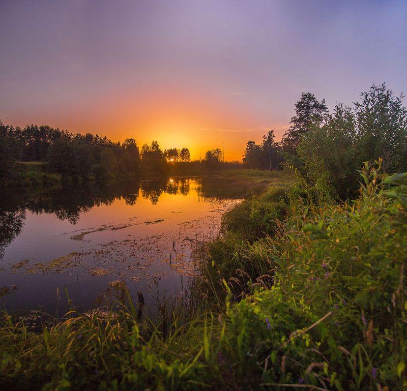Россия, закат, иваново, Ивановская область Тихое местоphoto preview