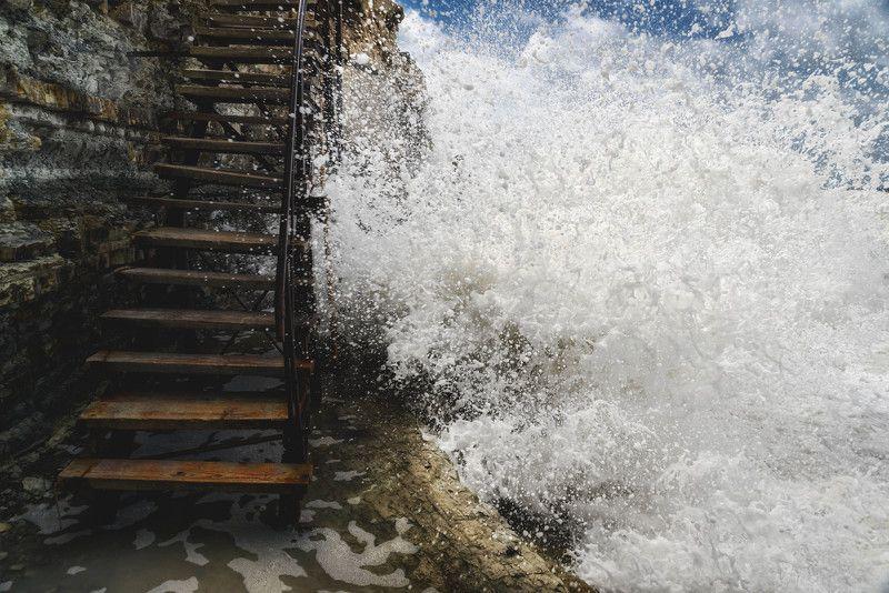 волна шторм море пейзаж природа wave storm sea nature landscape Сосновка.photo preview