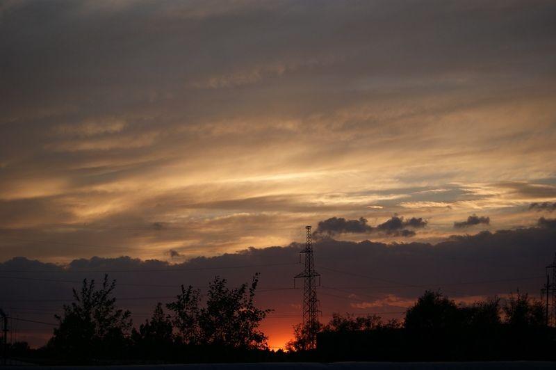 север, небо, облака, закат Немного северного небаphoto preview
