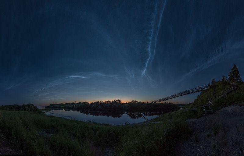 Серебристые облака с.Верхняя Тоймаphoto preview
