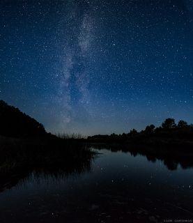 Млечный путь над Мологой рекой