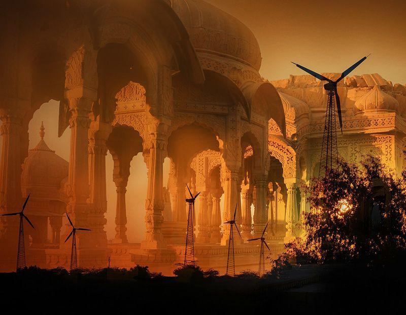 индия, раджастан, джайсалмер, ценотафы, махараджи Миражphoto preview