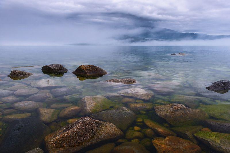 туман, байкал, природа, пейзаж Туманный Байкалphoto preview
