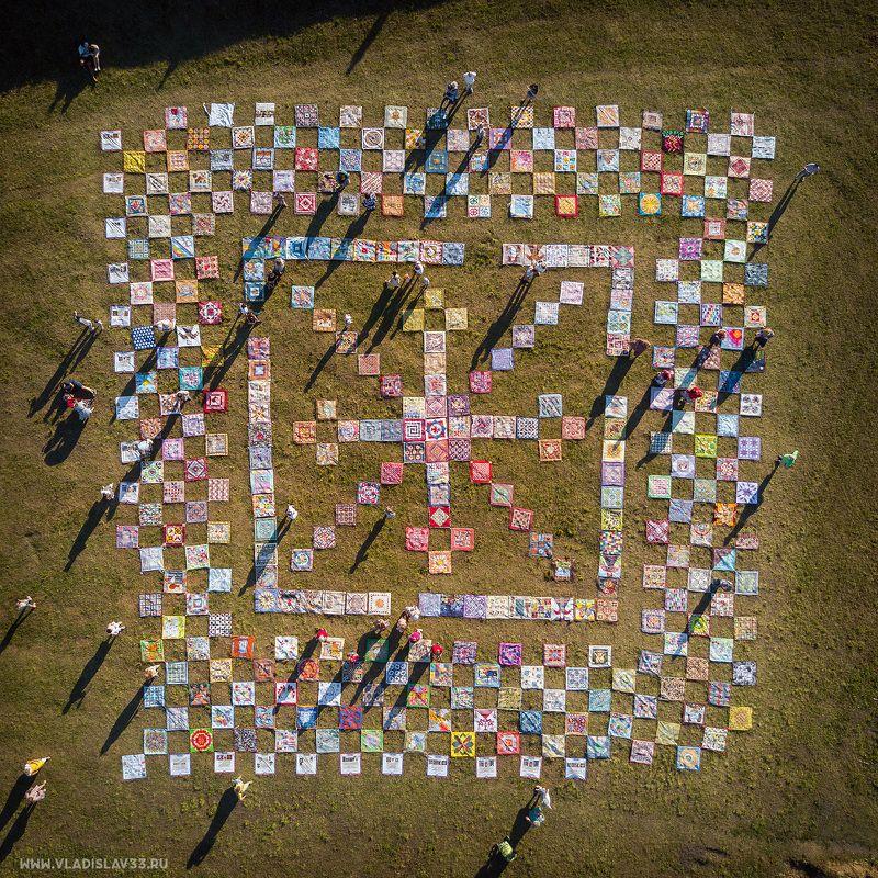 суздаль, аэросъёмка, пейзаж, фестиваль лоскутного шитья, квадрокоптер Фестиваль лоскутного шитья в Суздалеphoto preview