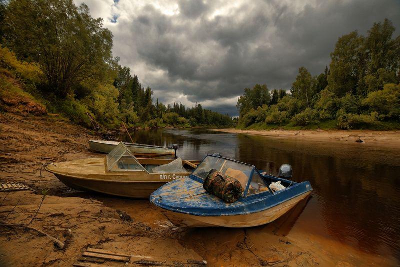 югра,ачимовы,юганский заповедник,река малый юган на исходе летаphoto preview