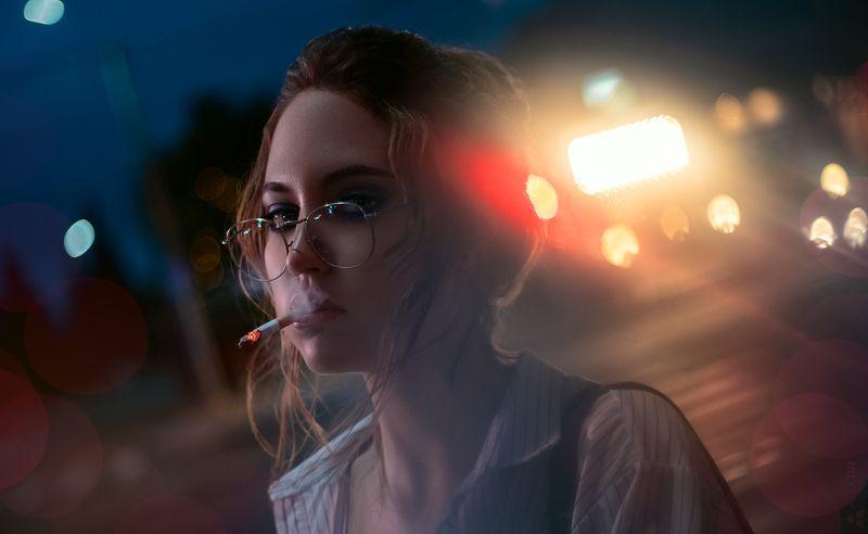 портрет, девушка, улица, вечер Наташаphoto preview