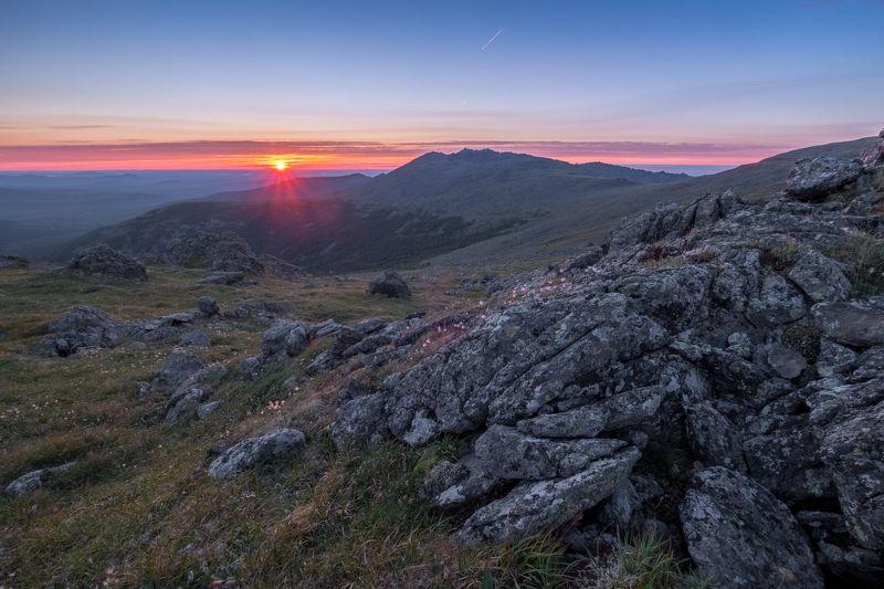 рассвет, горы, урал, лето Рассвет над Серебрянским Камнемphoto preview