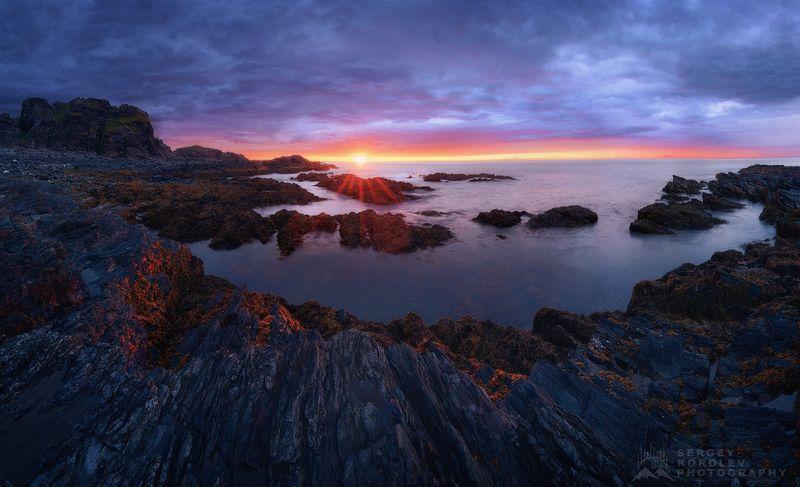 кольский, рыбачий, заполярье, север Закат на полуострове Рыбачийphoto preview
