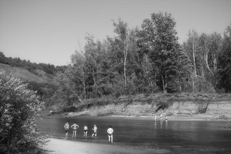 лето, река, грушинский, берег, пляж, андрейларионов Лето photo preview