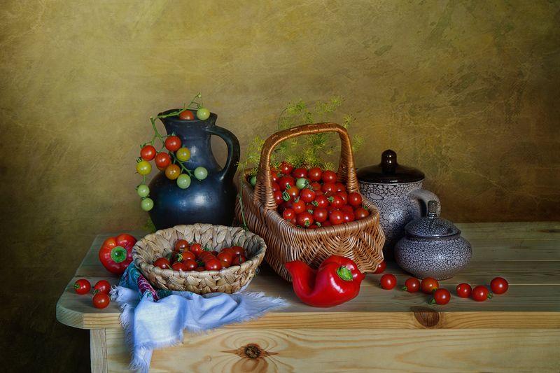 томат,красный,маленький,натюрморт,вера павлухина, \