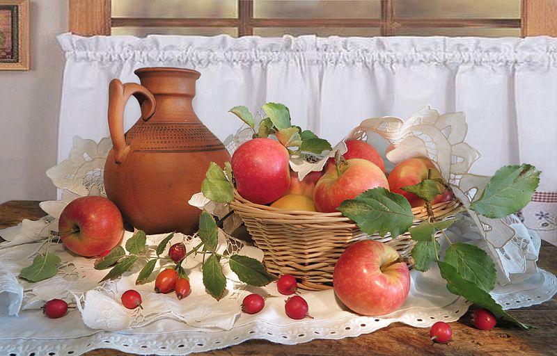 кувшин,яблоки,салфетка Яблочный Спасphoto preview