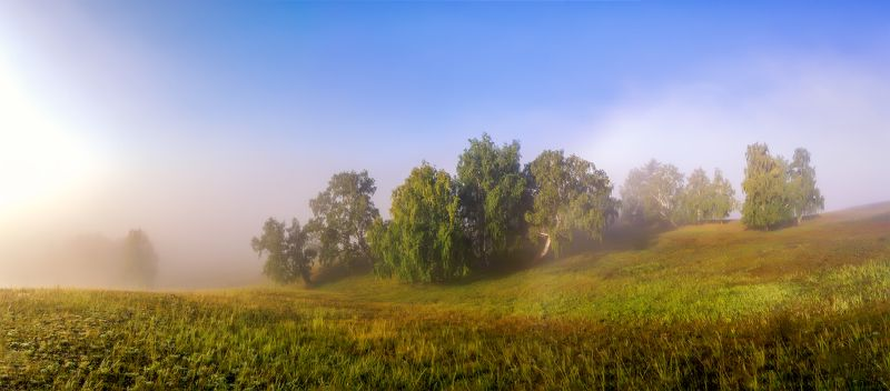 утро, рассвет, восход, туман, лучи Южный Урал.photo preview