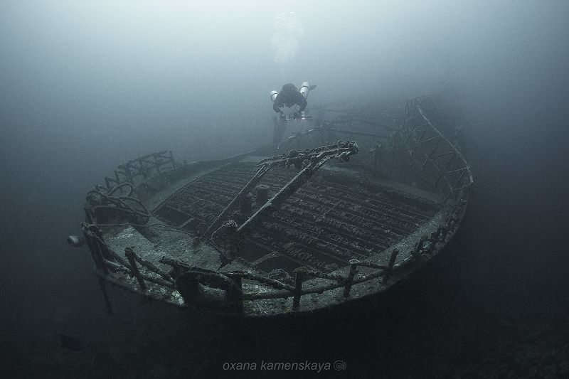 wreck fish underwater shipwreck bow Рыбацкая лодкаphoto preview