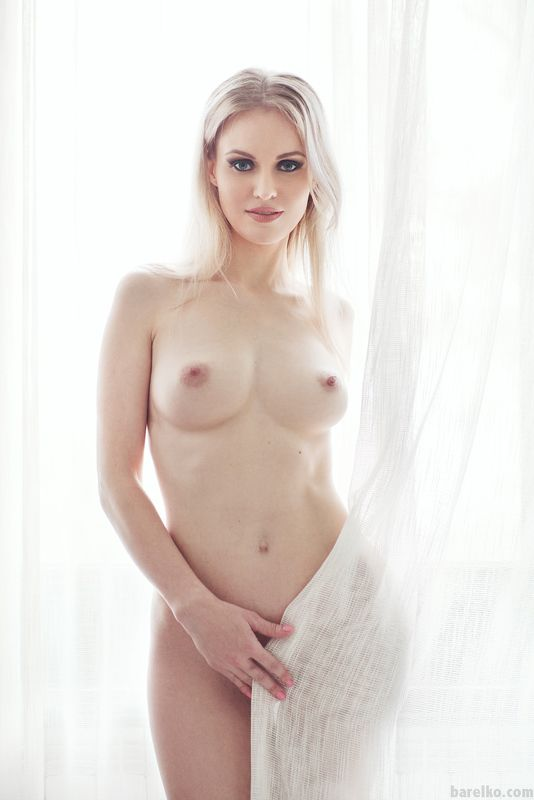 nude, window, blond -photo preview