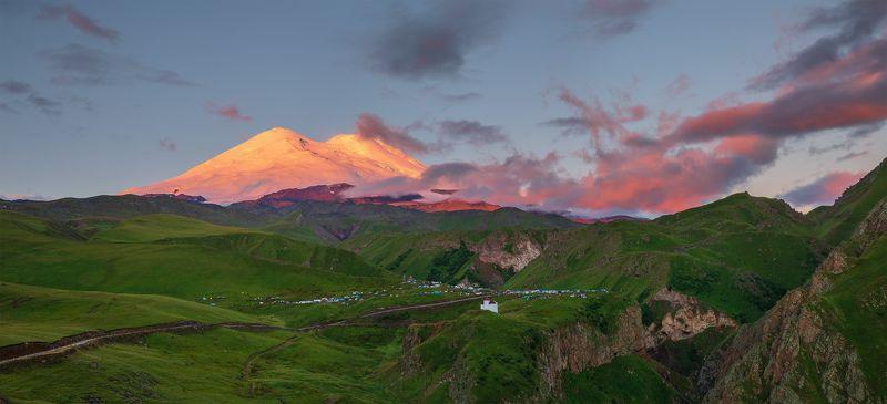 северный кавказ эльбрус джилы-су рассвет август Рассветы приэльбрусьяphoto preview