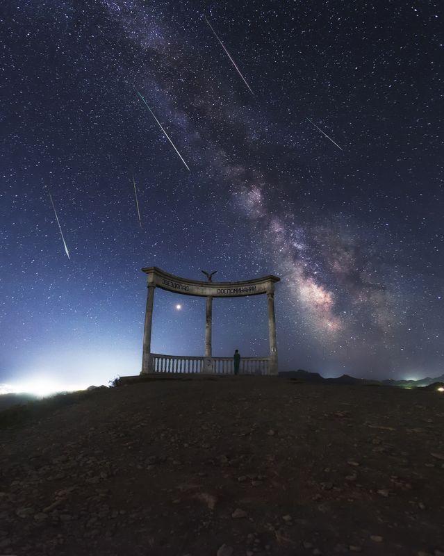 ночь млечный путь звёзды звездопад воспоминанийphoto preview