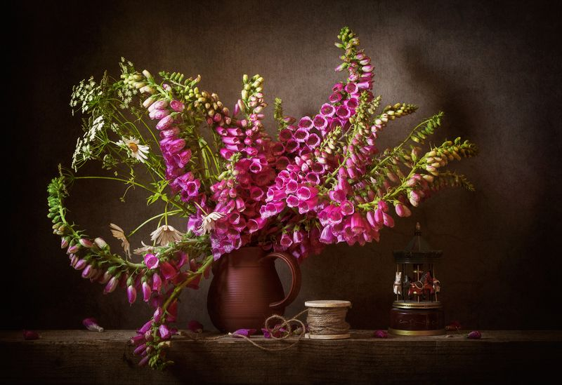 still-life flowers bouquet foxglove, натюрморт, цветы, букет Летом...photo preview