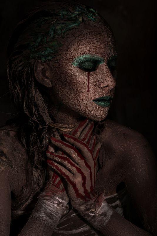 art, face, faceart, portrait, model, mood Слезы Землиphoto preview