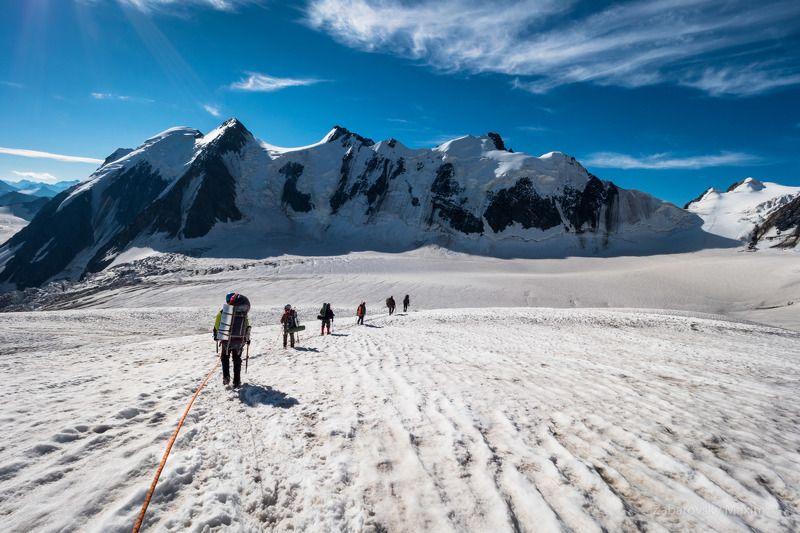алтай, горы, связка, альпинизм, ледник В связкеphoto preview