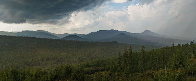 якутия, золотинка, град, гроза, тайга, перевал Грозовой перевалphoto preview