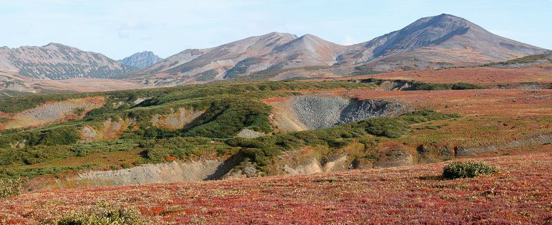 Осень, Камчатка, тундра, сопки, вулканы, горы Осенняя Камчаткаphoto preview
