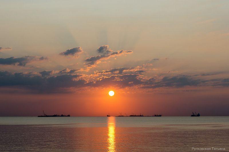 Августовский закат. photo preview