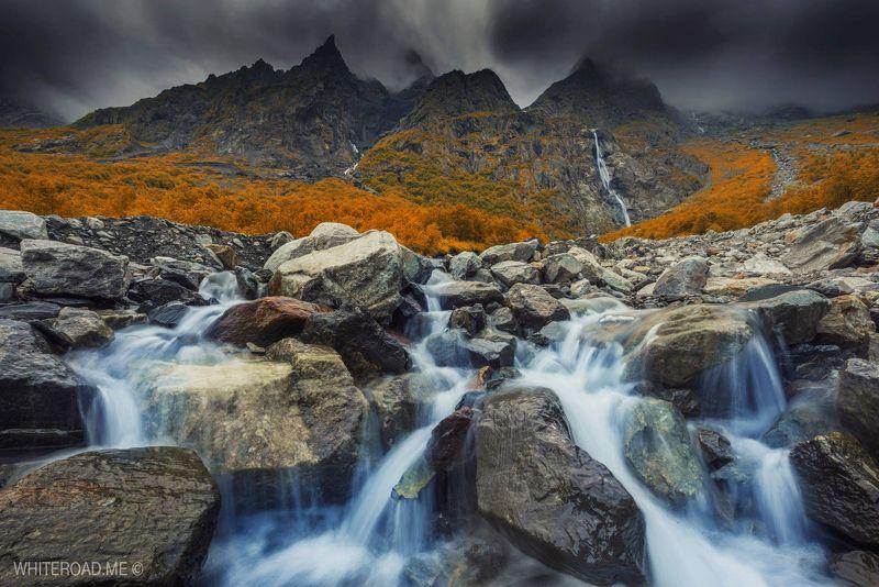 водопад waterfall северная_осетия кавказ Мидаграбинские водопадыphoto preview