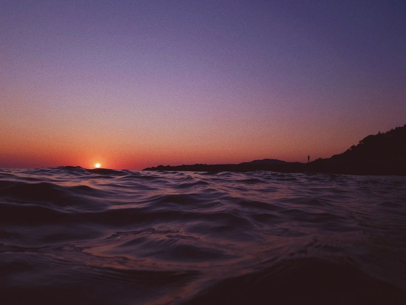 закат, море, солнце, вечер, волны Закат в Туапсеphoto preview