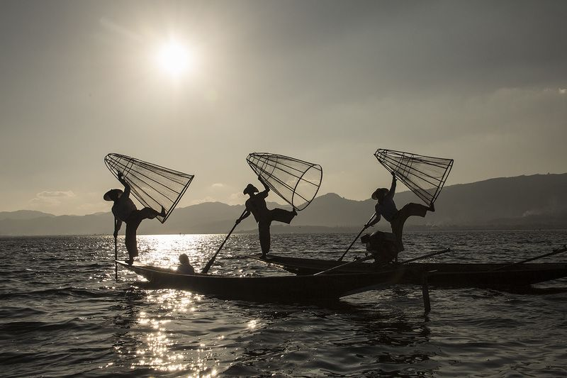 Inle Lake fishermen.Myanmarphoto preview