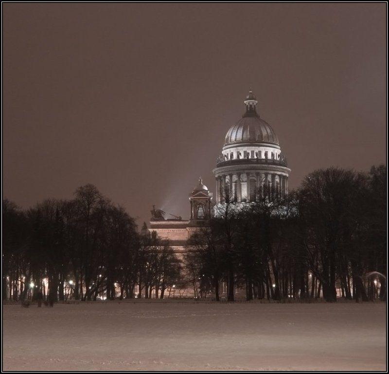 петербург, исаакиевский собор, вечер, снег Исаакиевский соборphoto preview