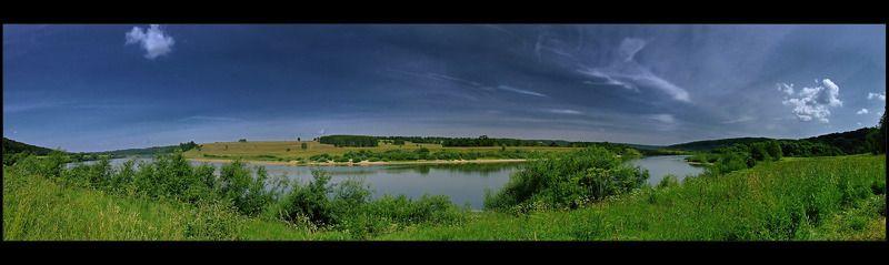 ока, река, лето, пано Река Ока.photo preview