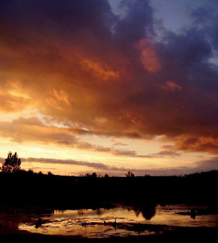 лето, закат, облако Тревожный закатphoto preview