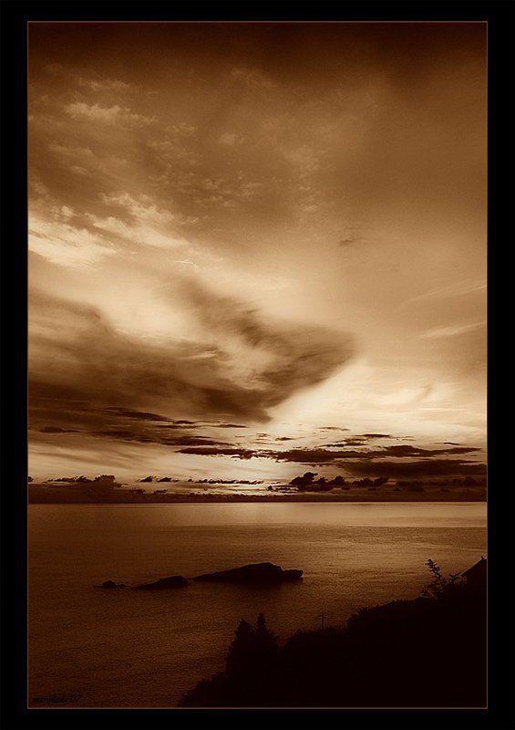 закат Закат в сепию...photo preview