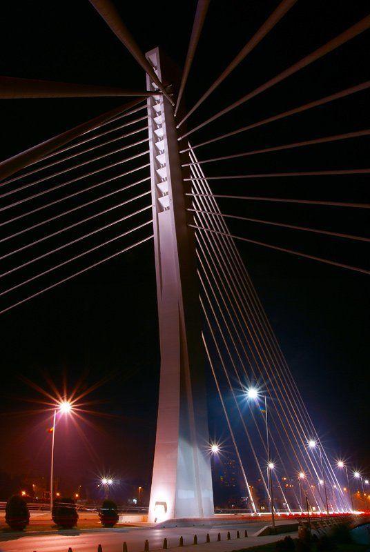 город, мост Городская , туманная....photo preview