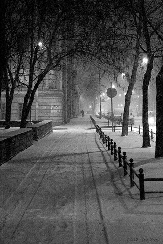 петербург, вечер, снег, зима атмосферная карточкаphoto preview