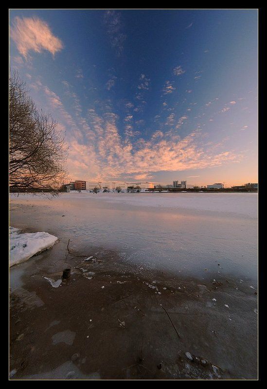 москва-река, крокус-сити, закат, облака Закатphoto preview