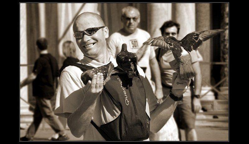 турист, сан-марко, венеция, голуби Эмоции: радостьphoto preview